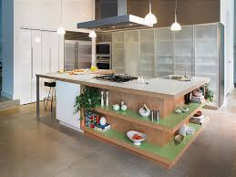 view in gallery fabulous kitchen island with open shelves formica laminate worktop and ergonomic prep zone
