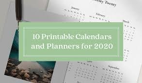 10 Gorgeous Ready To Print Calendar Templates For 2020