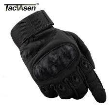 tacvasen tactical gloves men s gloves armor protection shell leather full finger gloves military wear td ywhx 017