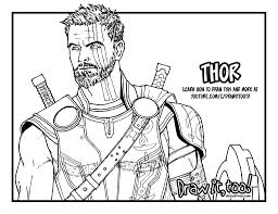 How To Draw Thor Thor Ragnarok Drawing Tutorial