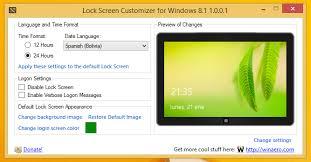 windows 8 1 lock screen wallpaper. Exellent Windows Lock Screen Customizer For Windows 81 Along With Date And Time Formats  Tweaking Allows You To Change The Sign In Color Background Image Of  On 8 1 Wallpaper U