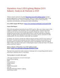 Dagr Industrial Lighting Hazardous Area Led Lighting Market 2019 Industry Analysis