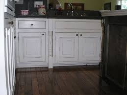 image of distressed painted kitchen cabinets