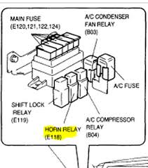 suzuki grand vitara i have a 2000 suzuki grand vitara horn here is a diagram of the horn relay pull it and check for power on 2 of the slots and let me know graphic