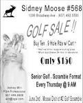 Senior Golf - Scramble Format, Sidney Moose Lodge 568 - Ashley ...
