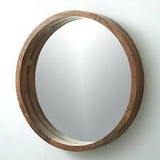 round wood framed mirror round