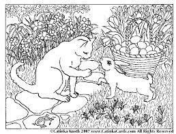 Small Picture Kitten And Bunny Coloring PagesAndPrintable Coloring Pages Free
