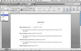 Right Justify Dates In A Resume Using Word For Mac 2011 Youtube