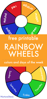 1,940 color wheel picture products are offered for sale by suppliers on alibaba.com, of which other home decor accounts for 1%. Printable Rainbow Days Of The Week And Color Wheels Nurturestore