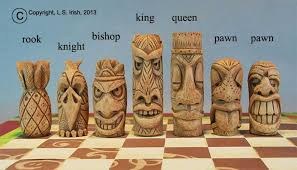 Wood Carving For Beginners Free Patterns Stunning Tiki Chess Set Beginner's Wood Carving Project By Lora S Irish