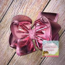 Sassy Sweet Designs Pink Foil Hair Bow