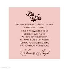 wedding registry invitation bridal shower gift registry insert wording google search shower ideas