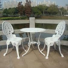 garden set. CAST ALUMINIUM GARDEN FURNITURE SET ~~ TABLE AND 2 CHAIRS VICTORIAN STYLE Garden Set E