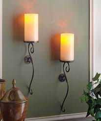 home wall lighting. SET OF 2 IVORY LED FLAMELESS CANDLE WALL SCONCES LIVING ROOM BEDROOM HOME DECOR Home Wall Lighting