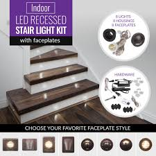 Dekor Outdoor Led Stair Light Kit Indoor Led Recessed Stair Light Kit With Faceplates Dekor