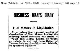 hubbard motors limited is incorporated by the remaining brothers in adelaide in 1927