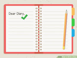 Diary Format Template How To Write A Diary With Sample Entries Wikihow