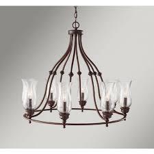pickering lane large bronze farmhouse style chandelier 8 light