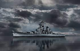 Wallpaper Battleship, BB-62, USS New ...