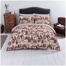 close image for sainsbury s home fireside red toile printed bed linen from sainsbury s
