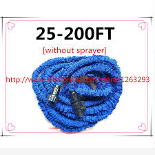 200 ft garden hose. Magic Flexible Hose Expandable 25FT 200FT Garden Reels Water Valve Blue Watering Connector[without Sprayer]-in Hoses \u0026 From 200 Ft