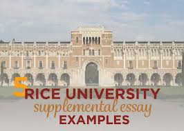 rice university supplemental essay examples admitsee
