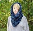 Как связать шарф-шапка спицами для начинающих