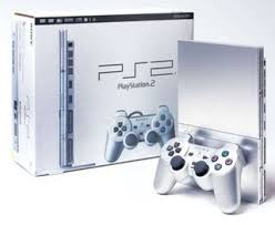 sony playstation 2 slim. playstation 2 slim silver sony playstation
