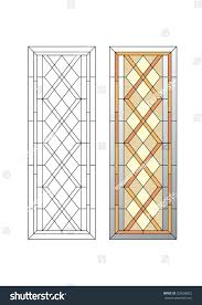 stained glass door patterns geometric ornament stained glass pattern stock vector geometric ornament stained glass with