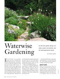 Small Picture Waterwise Gardening An Efficient Garden Design Can Reduce Water Cons