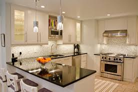 Small Picture Small Kitchen Design With Breakfast Bar Kitchen Spacious Modern