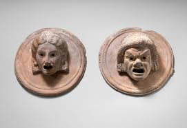 theater in ancient essay heilbrunn timeline of art   two terracotta roundels theatrical masks