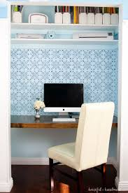 how to build a desk in closet houseful of handmade with regard remodel 7