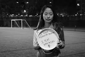 women s ultimate frisbee team feminism campaign goes viral  photo of student annika chan sar 18