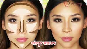 contour makeup tips in hindi bheed mai alag dikhaye