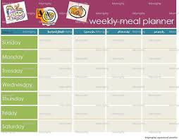 weekly menue planner weekly meal planner template excel