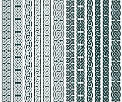 Celtic Pattern Gorgeous Collection Of Celtic Patterns Celtic Borders Vector Illustration