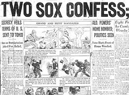 sportsvault dirty soxs the black sox scandal this headline demonstrates the same as mentioned above the headline is big and loud but the words used are relatively calm this is an article that would