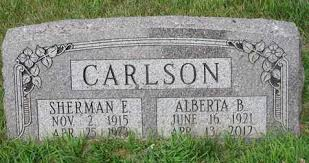 CARLSON, SHERMAN E. - Burt County, Nebraska   SHERMAN E. CARLSON - Nebraska  Gravestone Photos