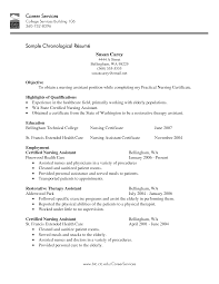 resume example certified nursing assistant resume cna resume in
