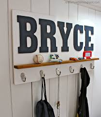 ideas wall shelf hooks: personalized wall shelf with hooks thats my letter