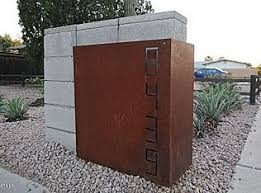 modern mailbox ideas. Mailbox Idea - Metal Wrapped Concrete Modern Ideas E