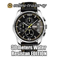 mens military watch leather band waterproof sports quartz wrist image is loading mens military watch leather band waterproof sports quartz