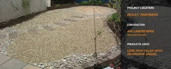 garden pathway. Gravel-Patio- Garden Pathway