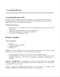 Resume Templates Format For Accountant In Word Download Free Within