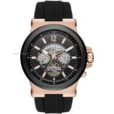 "men s michael kors dylan automatic watch mk9019 watch shop comâ""¢ mens michael kors dylan automatic watch mk9019"
