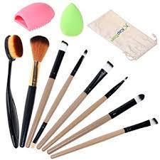 kaptron makeup brush set oval brush toothbrush curve contouring blending blush concealer