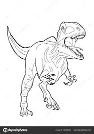 realistic dinosaur ilration cartoon drawing stock photo