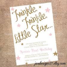 Kids Invitations Kids Birthday Party Invitations Twinkle Twinkle Little Star