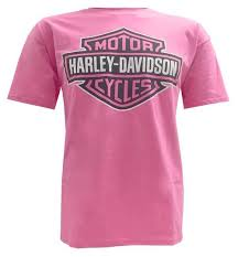 harley davidson women s men s t shirt bar shield tee pink